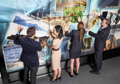 multi-touch collaboration wall by MultiTaction